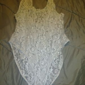 Lace one piece